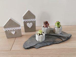 Kreativ-Beton Häuser Blumentöpfe